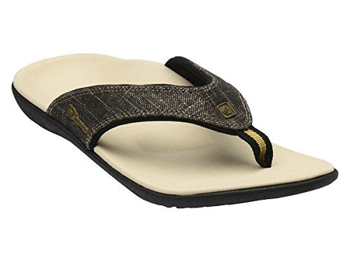 Spenco Yumi Gold Canvas Women's, Black Gold Size 10