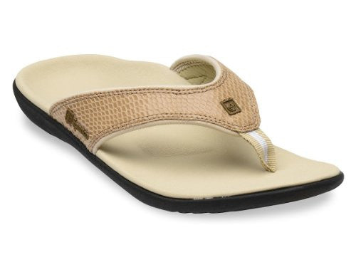 Spenco Yumi Snake Women's, Dark Tan Size 7