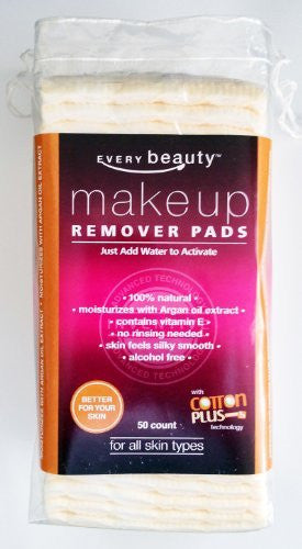 Dry Facial Makeup Remover Pads with Argan Oil