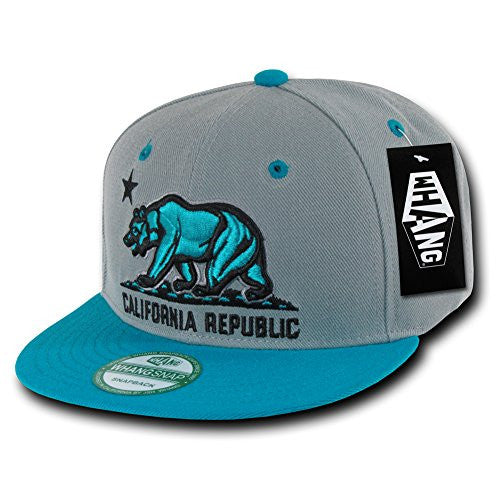 WHANG Snapbacks (Grey/Teal)