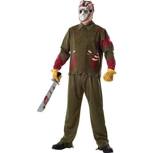 Friday The 13th Jason Voorhees Deluxe Adult Costume Size: X-Large (44-46)