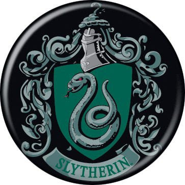 Slytherin Crest - BUTTONS 1 1/4 in. ROUND