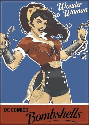 Wonder Woman Bombshell - PHOTO MAGNET 2 1/2 in. x 3 1/2 in.