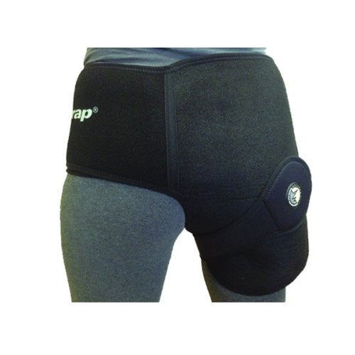 ActiveWrap Hip Wrap for Right or Left Hip, One Size, Black