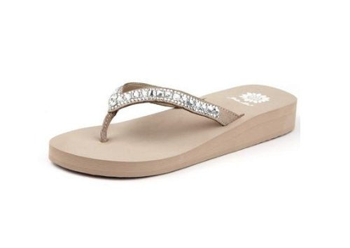 Womens Zabrina Fashion Flip Flop Sandals,Taupe,10