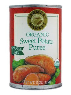 FARMERS MARKET Sweet Potato Puree 12/15 OZ