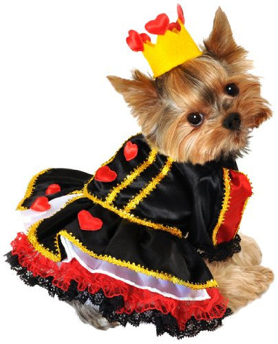 Royal Queen of Hearts Dog Costume - XS