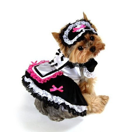 French Maid Dog Costume, Small