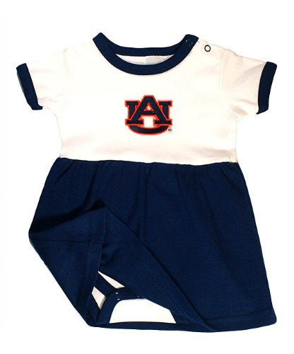 Auburn Tigers Baby Onesie Dress (NB - 3 Months, Color Trim)