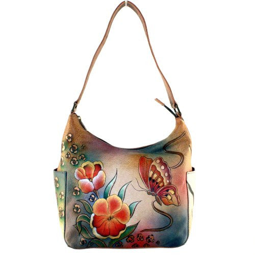 Premium Floral Safari Hobo with Side Pockets