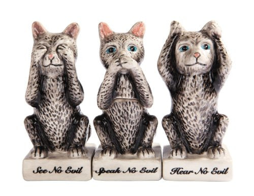 No Evil Kitties SP w/ Toothpick Holder