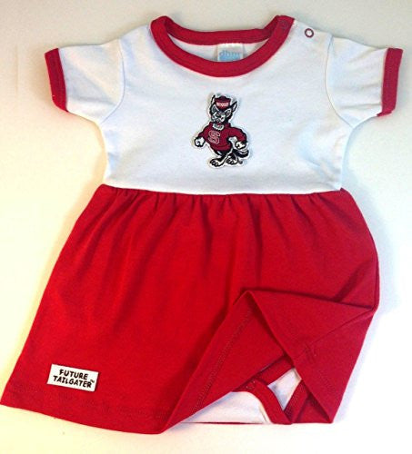 North Carolina State Wolfpack Baby Onesie Dress (NB - 3 Months, Color Trim)