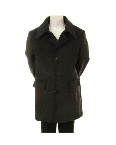 Very Stylish Formal Wool Coat for Boys - Charcoal, Size 10