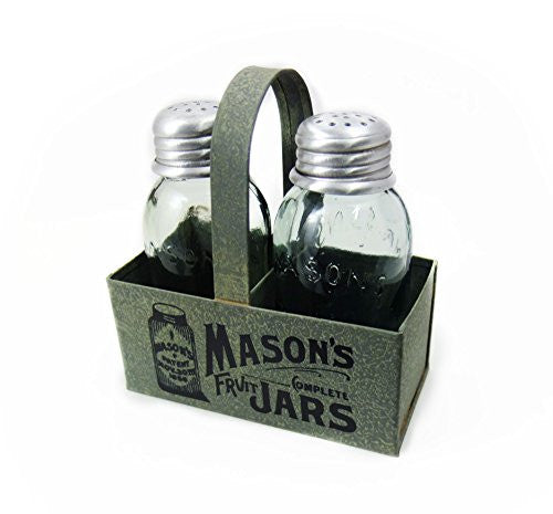 Mason's Jars Box Salt And Pepper Caddy