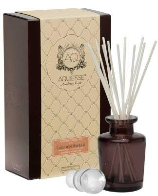 Golden Amber Reed Diffuser Gift Set