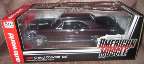 Auto World ERTL - Chevy Chevelle SS Hard Top (1966, 1/18 scale diecast model car, Plum Mist)