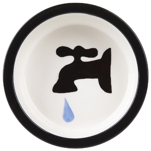 Melia Black Licorice Tap Ceramic Dog Bowl - Large