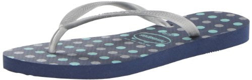 Women's Slim Fresh Flip Flop, Navy Blue Size 37-38