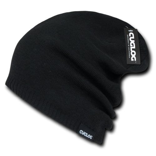 Long High Slouch Beanie by Cuglog (Black)