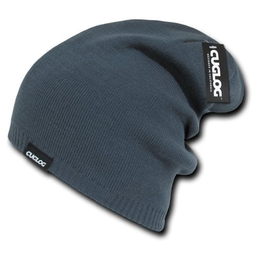 Long High Slouch Beanie by Cuglog (Charcoal)