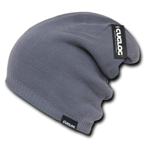 Long High Slouch Beanie by Cuglog (Grey)