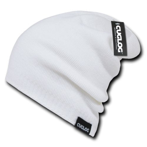 Long High Slouch Beanie by Cuglog (White)
