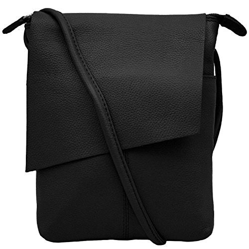 Rawhide Flap/Crossbody with adjustable strap - Black