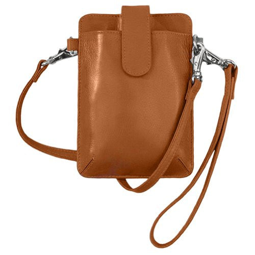 Crossbody/Detachable Shoulder & Wristlet Smartphone Case - Orange