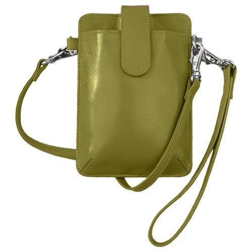 Crossbody/Detachable Shoulder & Wristlet Smartphone Case - Moss Green