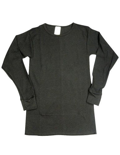 Indera - Womens Long Sleeve Thermal Top, 5000LS (Black / Medium)