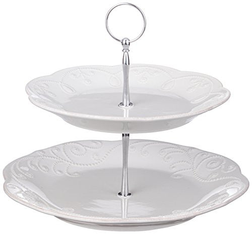 FRENCH PERLE WH TIERED SERVER