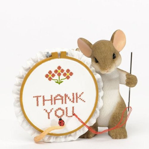 Charming Tails Thank You Sew Much Figurine