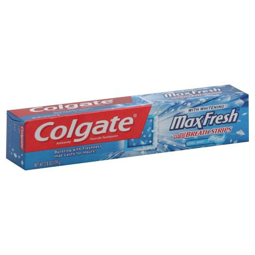 Colgate Max Fresh Cool Mint Toothpaste 2.8 oz, Pack of 4
