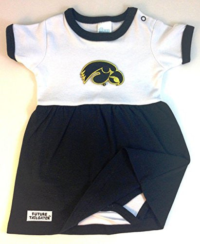 Iowa Hawkeyes Baby Onesie Dress (NB - 3 Months, Color Trim)
