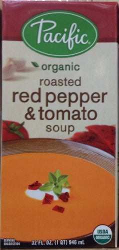 Pacific Organic Roasted Red Pepper & Tomato Soup 32 oz.