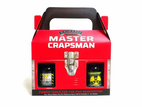 Master Crapsman Men's Gift Set with 2oz Heavy Doody & Poo-Tonium