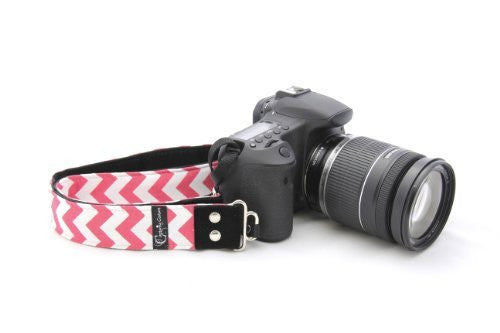 CHEVRON COLLECTION - DSLR CAMERA STRAPS - CHEVRON PINK 1.5""