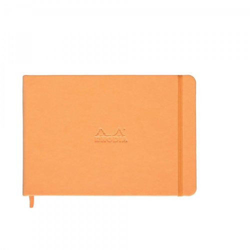 "Rhodia Webnotebooks ""Landscape"" 5 ½ x 8 ¼ Orange Blank 96 sheets"