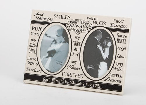 "7"" DADDY'S GIRL FRAME 2-3X5 PH TYPOGRAPHIC COLL"