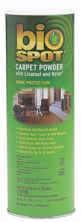 Bio Spot Carpet Powder with Linalool and Nylar 16oz