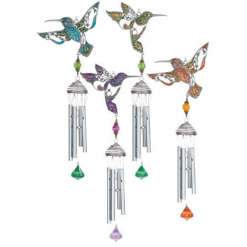 Pewterworks Hummingbirds Chimes