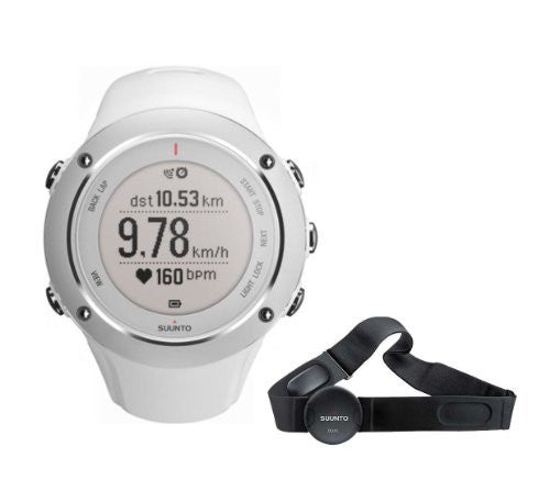 Suunto Men's Ambit 2S White Watch w/ Heart Rate Monitor