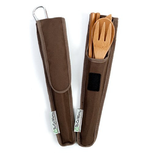 To-Go Ware RePEaT Bamboo Utensil Set with Recycled PET Carrycase, in French Roast Cover