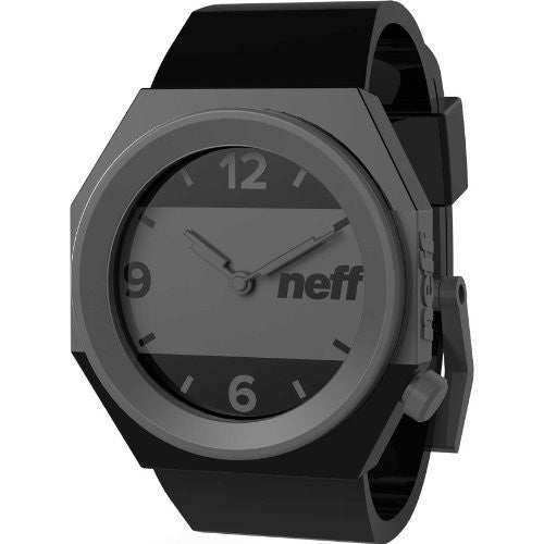 Men's Stripe Watch - BLACK/GREY