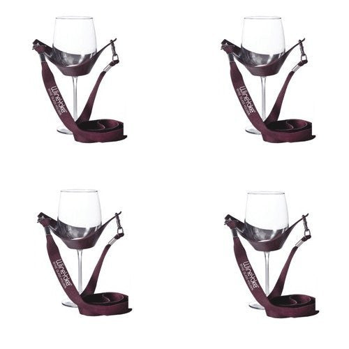 Wine Yoke Wine Glass Holder, Burgundy
