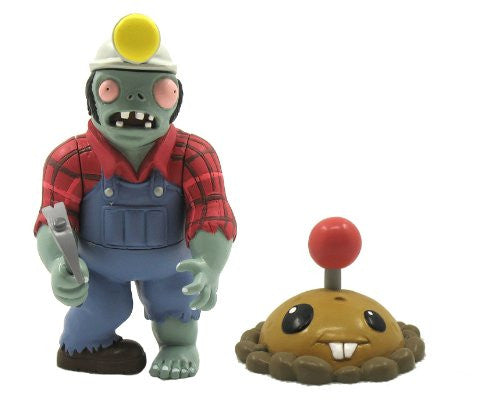 "Plants Vs Zombies Wave 2 - 3"" Assortment (Digger Zombie and Potato Mine)"