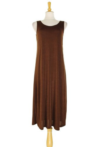 BNS Long Tank Dress - Brown, Large