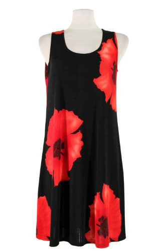 BNS Missy Tank Dress - Red, Large