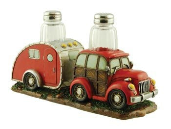 Woody Car/Camper Salt & Pepper Holder