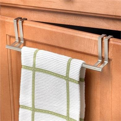 "Over the Cabinet/Drawer 11"" Towel Bar 1/Card - Brushed Nickel"